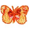 Motif Sequin/beads Butterflies Orange 2-tone 6cm